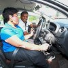 Aveena learning to drive at Safety Driving Centre. Beside her is her instructor Tinesh Kumar Koppalai Kirnan. — Photos: ART CHEN/The Star   Read more at http://www.thestar.com.my/metro/community/2017/06/19/disabled-learner-drivers-cry-for-help-they-u