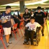 "Geoffrey Cho, a student from Ngee Ann Polytechnic, taking part in the Wheelchair Challenge during the launch of ""Inclusivity & Me"" campaign,on 27 June 2017."