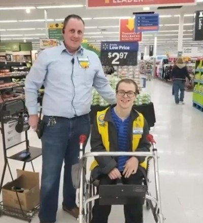 Disabled Pennsylvania Walmart greeter gets gift of mobility